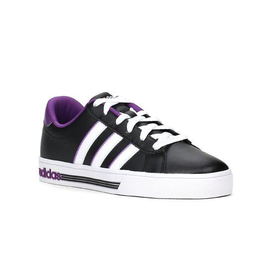 Tênis Casual Feminino Adidas Daily Team Preto roxo - Compre Agora ... f76c897a3e97e