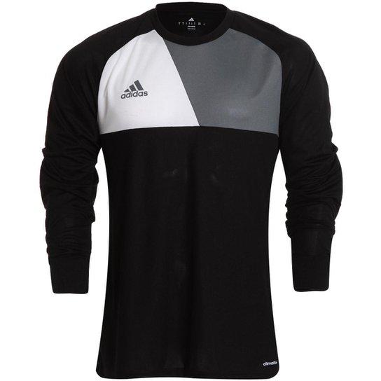 15a3b8abd57e5 Camisa de Goleiro Adidas Assista 17 Masculina - Preto e Branco ...