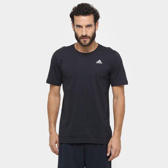 cb1ac62bea Camiseta Adidas Essential Base Masculina - Preto - Compre Agora ...