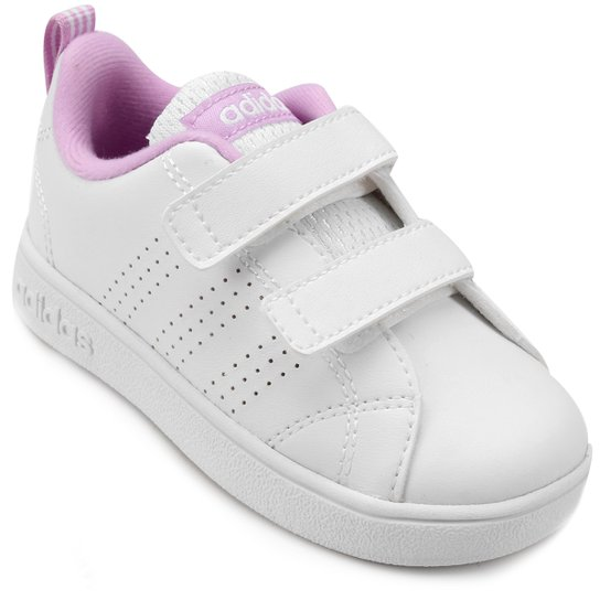 01e264eb451cc Tênis Adidas Vs Advantage Clean Infantil - Branco+Rosa