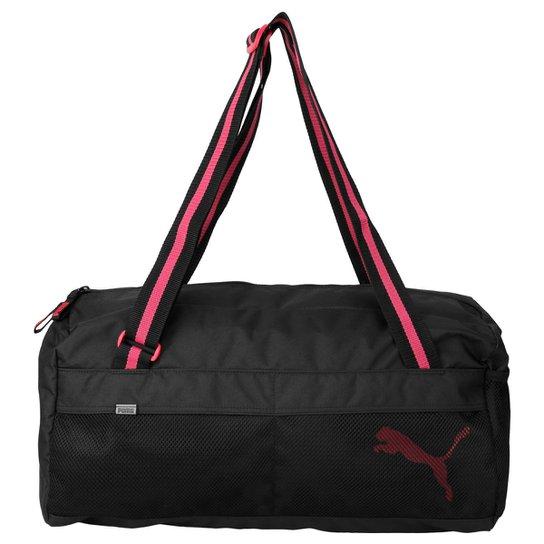 af82a588e Bolsa Puma Fundamentals Sports - Preto+Rosa