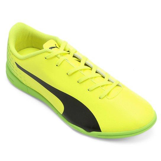 a5ad16aece323 Chuteira Futsal Puma Evospeed 17.5 IT - Amarelo+Preto