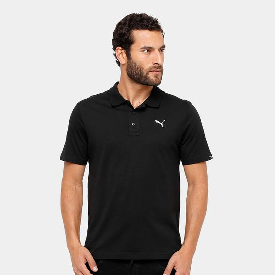 83bd913dc1 Camisa Polo Puma Ess Jersey Masculina - Preto - Compre Agora