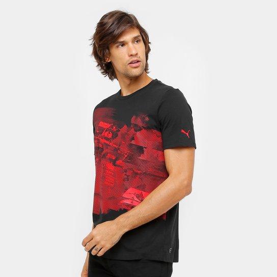 Camiseta Puma Scuderia Ferrari Transform Graphic Masculina - Preto ... 93fed56f89143