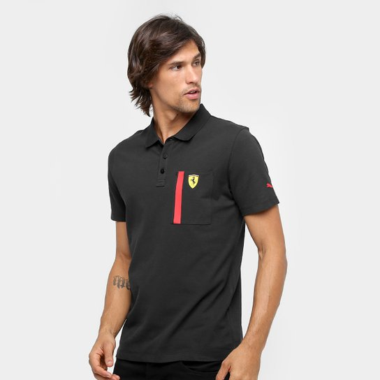 b2a54a47e3 Camisa Polo Puma Scuderia Ferrari Masculina - Preto - Compre Agora ...