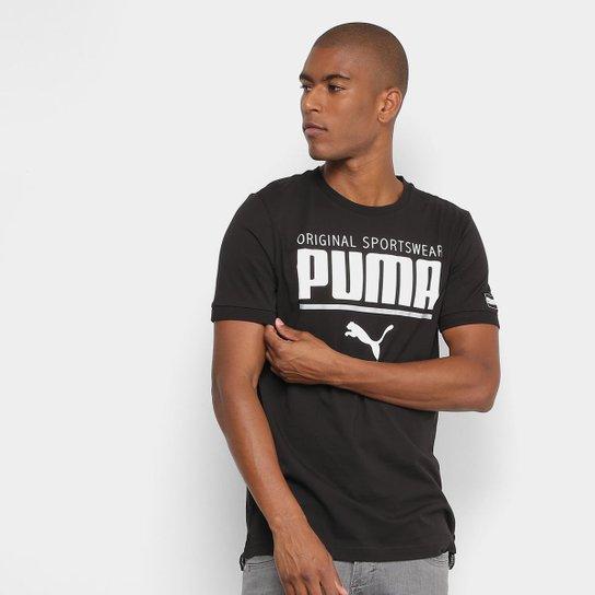 1fb461852c824 Camiseta Puma Style Athletic Tee Masculina - Preto - Compre Agora ...