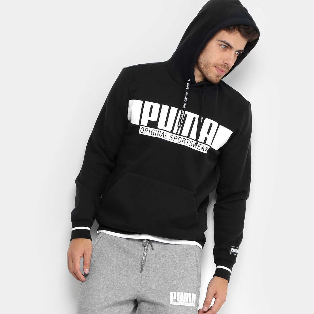 Moletom Puma Style Athletics Hoody Fl Masculino