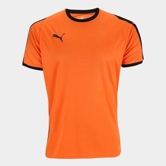 752725c311c99 Camisa Puma Liga Jersey Masculina - Laranja e Preto - Compre Agora ...