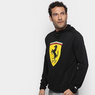 Moletom Puma Ferrari Scuderia Big Shield Sweat c  Capuz Masculino 3c1e21ddf7cdd