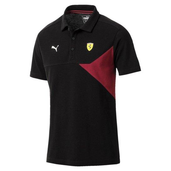 Camiseta Polo Puma Scuderia Ferrari Masculina - Preto - Compre Agora ... 5428214c088