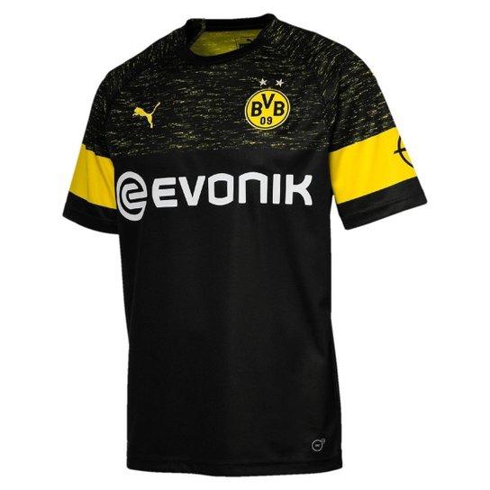 Camisa Borussia Dortmund Away 18 19 s n° - Torcedor Puma Masculina ... 991cf977cbcf9