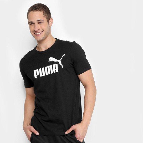 Camiseta Puma Essentials Logo Masculina - Preto - Compre Agora ... fb4039c10fa