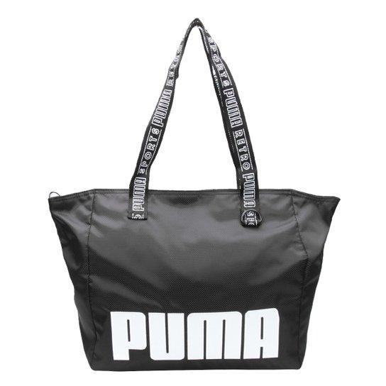 Bolsa Puma Tote Shopper Prime Street Large Feminina - Preto - Compre ... f69e2ea3de2