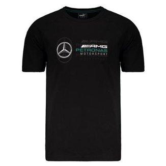 Camiseta Puma Mercedes AMG Petronas Logo Masculina 4bd25cade3b7e