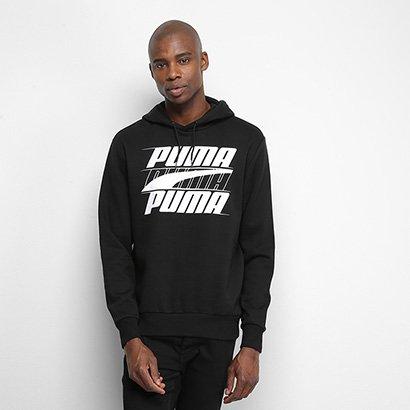 Moletom Puma Rebel Hoody Fl Masculino