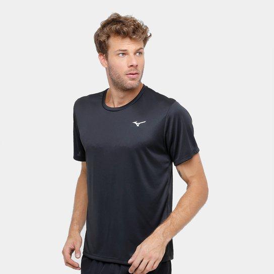 a6d2b8f3dfa16 Camiseta Mizuno New Com Proteção UV Masculina - Preto - Compre Agora ...