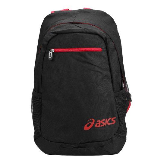 53590a5e8 Mochila Asics Daily Backpack - Preto+Vermelho
