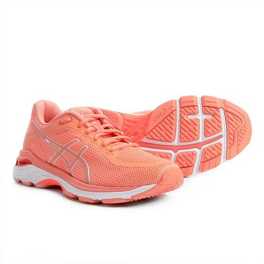 f49426c9987a7 Tênis Asics Gel-Pursue 4 Feminino - Rosa e Branco - Compre Agora ...