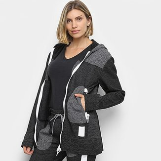 596558cdf Jaqueta Asics Premium Knit Hoodie Feminina