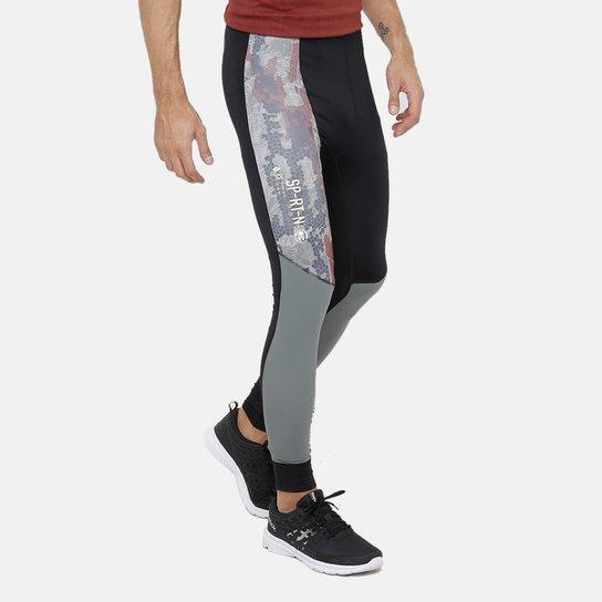 Calça Legging Reebok Compressão Sr Masculina - Preto - Compre Agora ... 10778e2179969