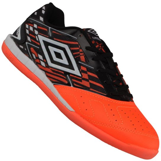 eb51be9ec6 Tênis Indoor Umbro Diamond Futsal - Laranja+Preto