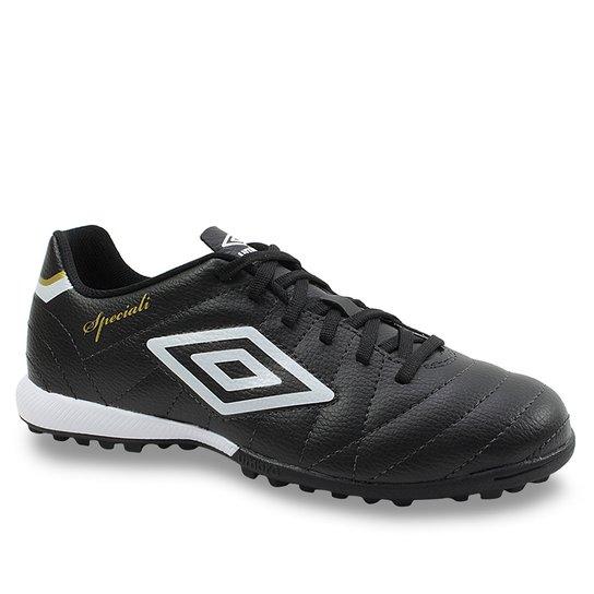 42d9b1bf98645 Chuteira Society Soccer Shoes Masculino Umbro - Preto | Netshoes