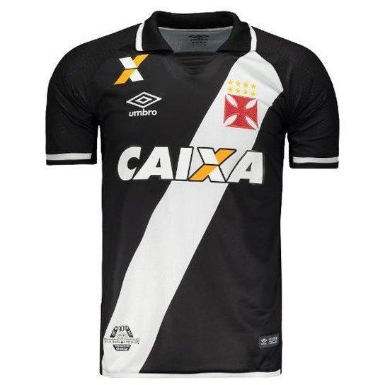 Camisa Umbro Vasco I 2017 - Preto - Compre Agora  57cb45ad974d3