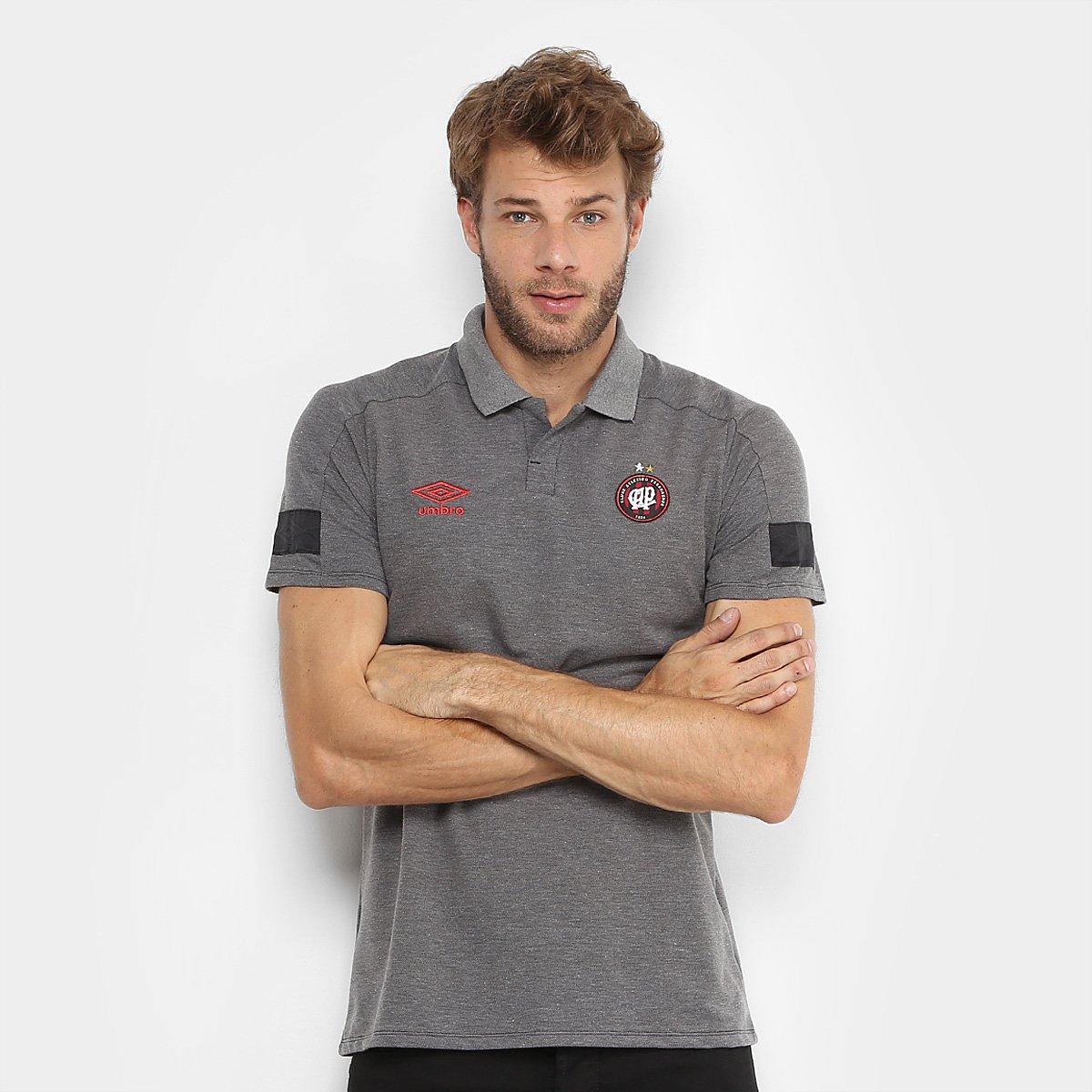 499ebdbc1e382 Camisa Polo Athletico Paranaense Viagem 2018 Umbro Masculina
