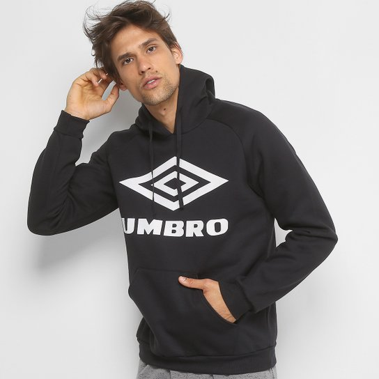 Moletom Umbro Large Logo c  Capuz Masculino - Preto - Compre Agora ... 9ea8d82e82920