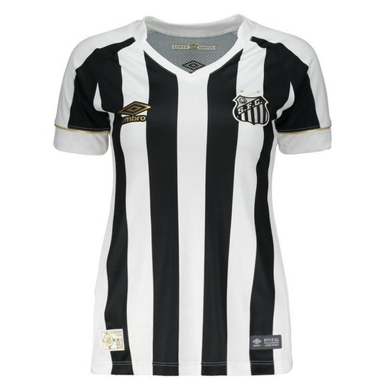 4d80aefcb9 Camisa Umbro Santos II 2018 Feminina - Preto - Compre Agora