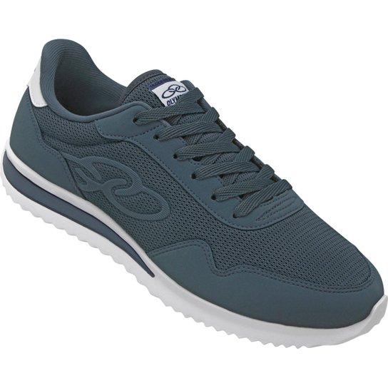 bc5c8e84d4 Tênis Olympikus Jogging 300 360 Masculino - Azul Petróleo e Branco ...