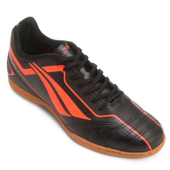 fe91915e611d0 Chuteira Futsal Penalty Matís 6 - Preto e Laranja Escuro