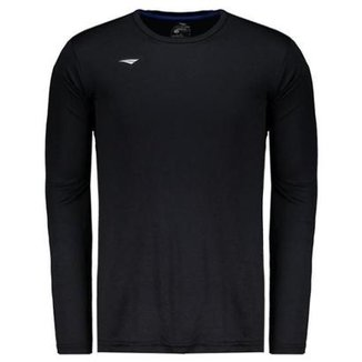 fbe53567f4 Camisa Penalty Matis Ix Manga Longa Preta