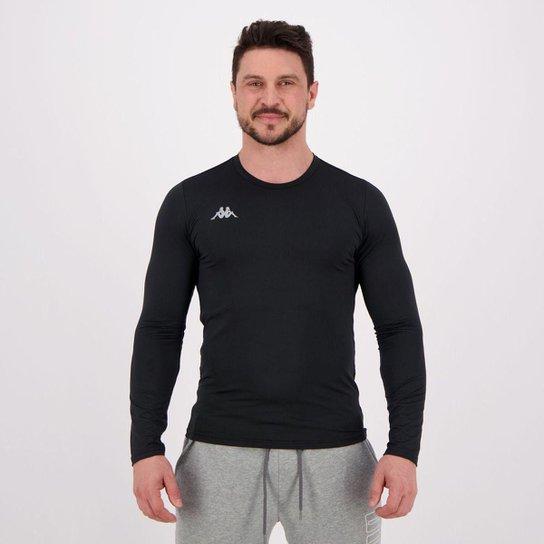 Camiseta Kappa Térmica Grip Manga Longa Masculina - Preto - Compre ... 482298d2855ab