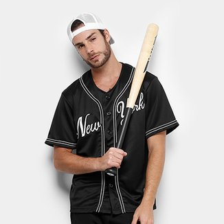 Camisa Baseball Kappa New York Raglan 17 Masculina 199d81734ea66
