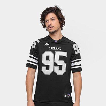 ... Camiseta Oakland Kappa Futebol Americano Masculina. Passe o mouse para  ver o Zoom 08031e61a0832