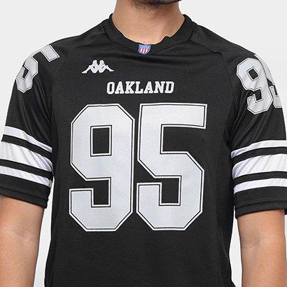 002fd281b ... Camiseta Oakland Kappa Futebol Americano Masculina. Passe o mouse para  ver o Zoom