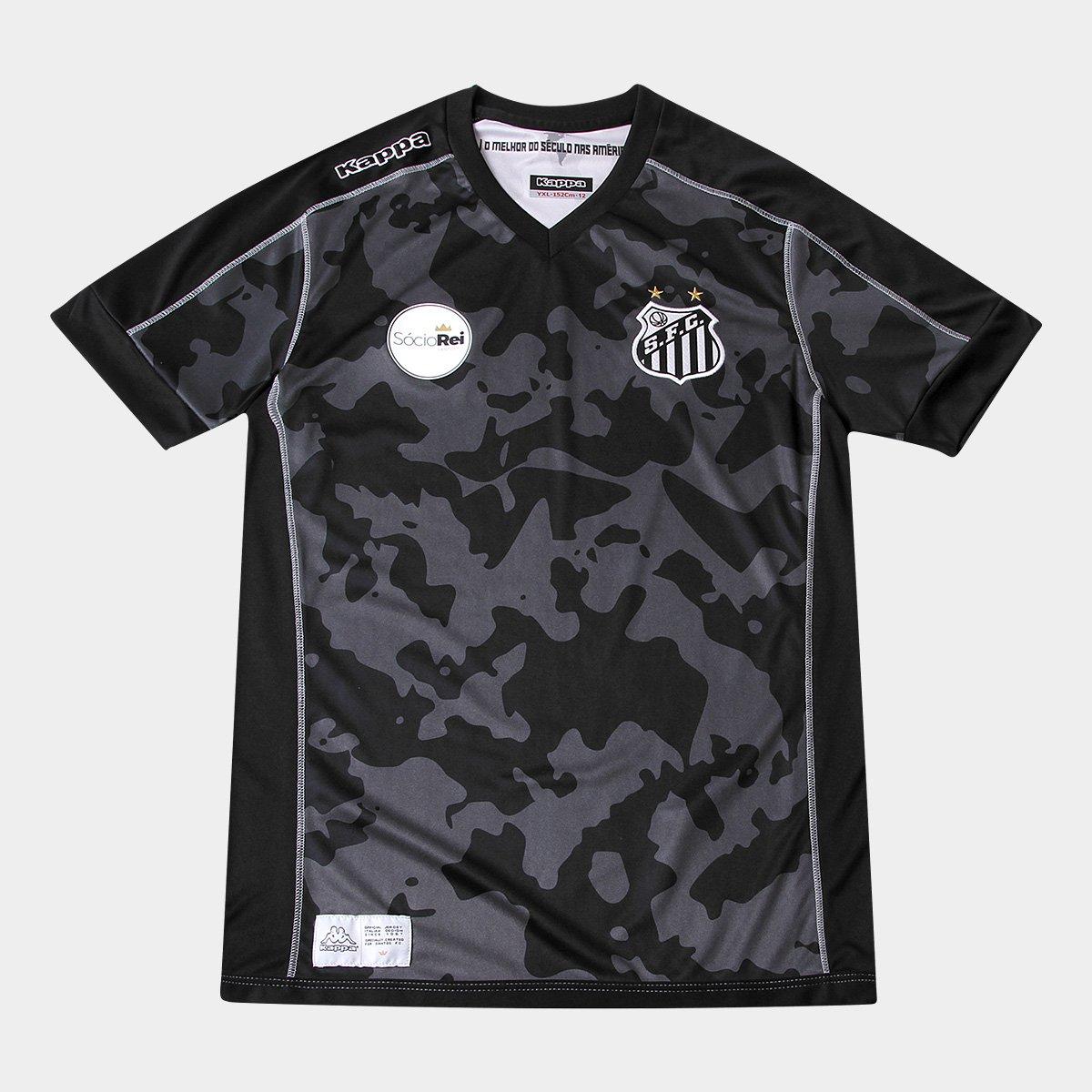Camisa Santos Juvenil III 17 18 s n° - Torcedor Kappa 029b9c2a07bf8