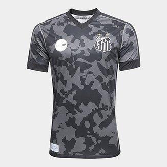f1d6e3ec2e Camisa Santos III 17 18 s n° - Torcedor Kappa Masculina