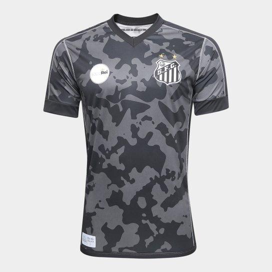 Camisa Santos III 17 18 s n° - Torcedor Kappa Masculina - Preto ... 6af00d83650f0