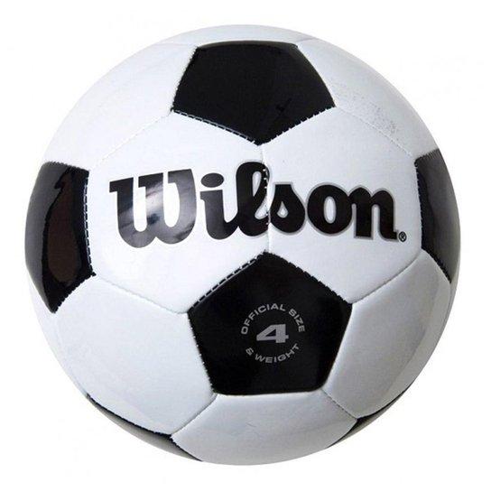 aeb39cff5 Bola De Futebol Wilson Clássica Número 4 - Preto - Compre Agora ...
