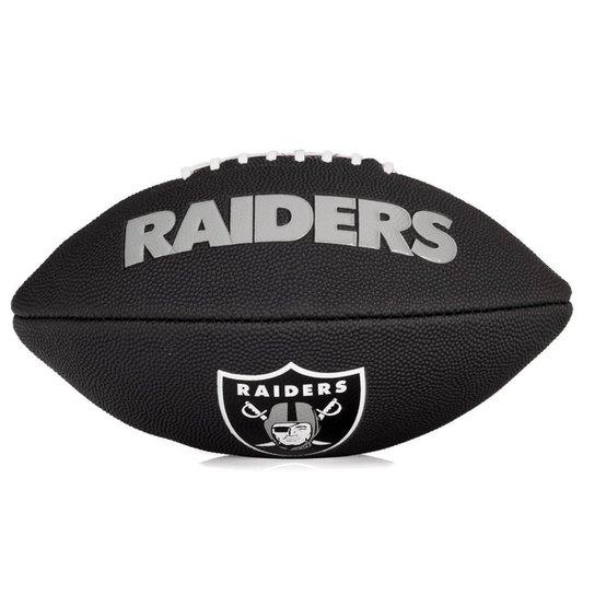 Bola de Futebol Americano Wilson NFL Team Jr Oakland Raiders Edition Black  - Preto c05508225863a