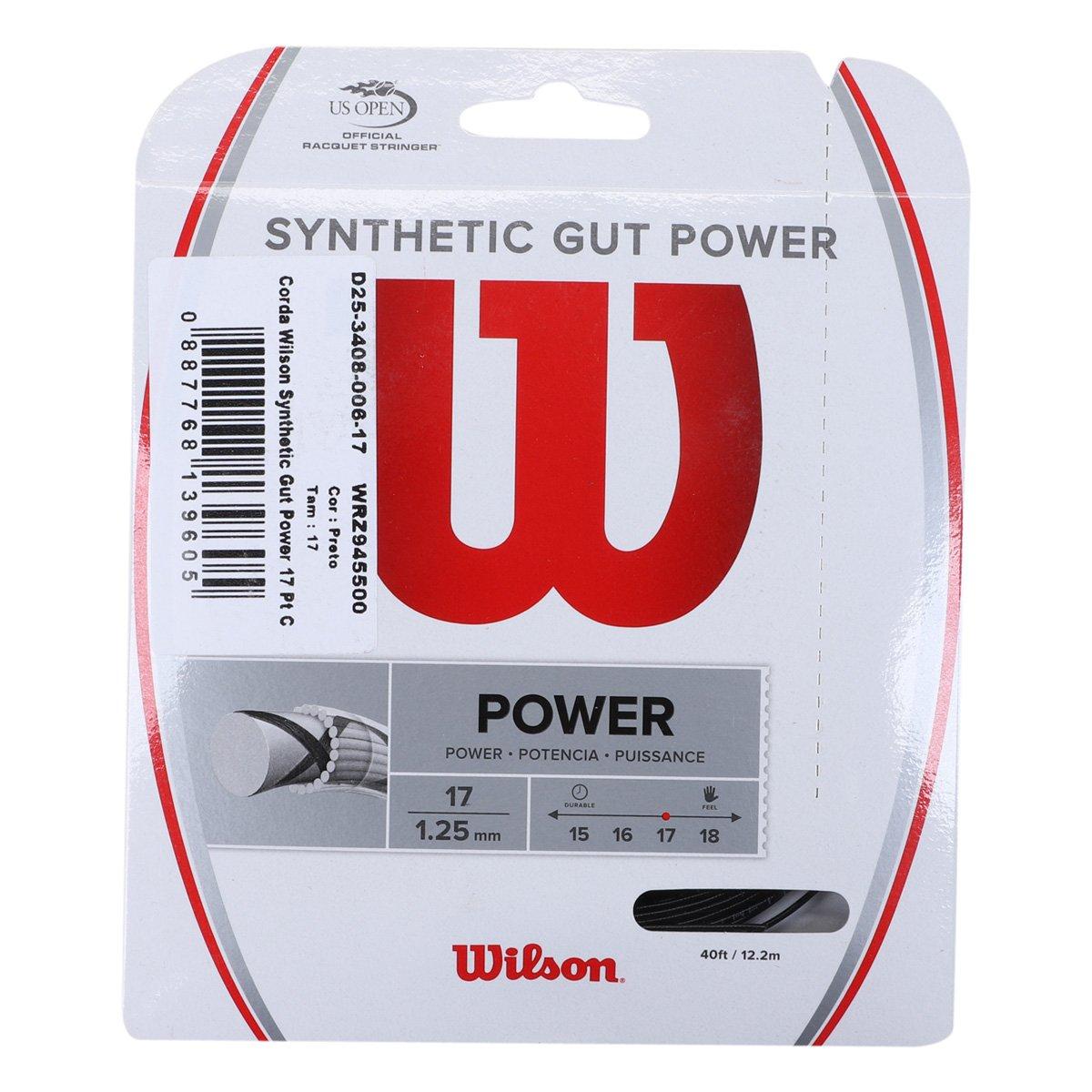 Corda Wilson Synthetic Gut Power 17 Pt Cartela