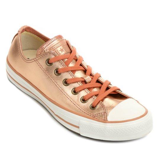 cda6ce3ae96 Tênis Couro Converse Ct As Mettalic Leather Ox Feminino - Compre ...