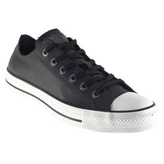 91941834178 Tênis Converse All Star Couro Original. - Preto - Compre Agora ...