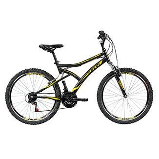 e9ea95a645138 Bicicleta Aro 26 Mountain Bike Caloi Andes 21 Marchas Suspensão Dianteira