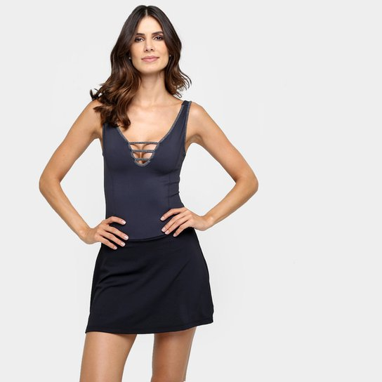 cf7f4f0a7c Vestido Fila Loft Feminino - Preto