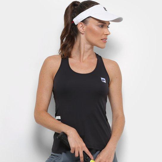 Camiseta Regata Fila Band Feminina - Preto - Compre Agora  9691b058be8