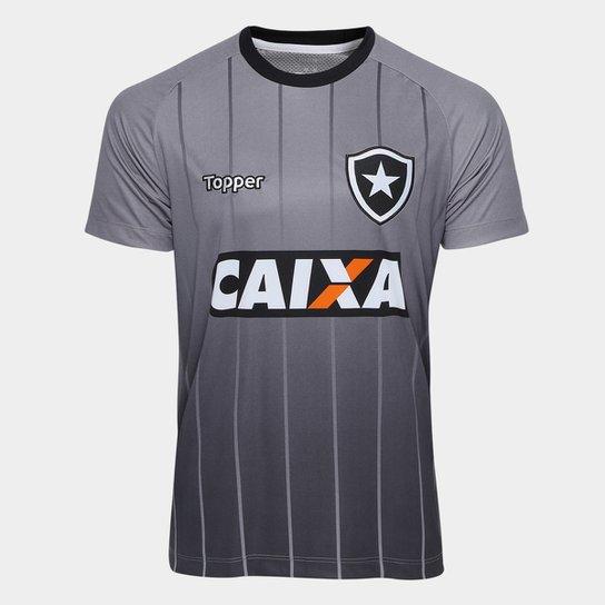 Camisa Botafogo Comissão Técnica Treino Topper Masculina - Cinza ... 6cda361850e06