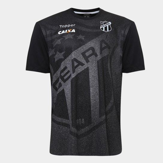 edafd2388e Camisa Ceará Aquecimento 2018 Topper Masculina - Preto - Compre ...